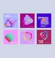 colorful paint splash shape flyer template set vector image vector image