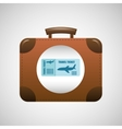 concept travel suitcase vintage and tickets plane vector image