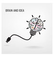 Creative brain Idea sign vector image vector image