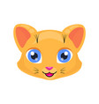 cute cat face or mask vector image