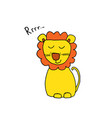 cute lion cartoon animal baby and children print vector image