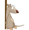 Cute Rat Cartoon Character vector image vector image