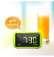 Digital alarm clock background vector image vector image