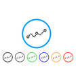 dotted chart rounded icon vector image vector image