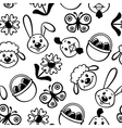 easter muzzle pattern vector image vector image