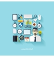 Flat management background Business and marketing vector image vector image