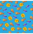 Golden Butterflyfish pattern vector image vector image