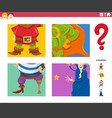 guess fantasy characters game for kids vector image vector image
