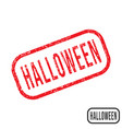 halloween rubber stamp with grunge texture design vector image