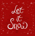 hand made lettering phrase merry christmas vector image vector image