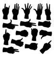 hand silhouettes set vector image vector image