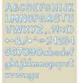 handdrawn typeface vector image