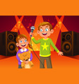 happy children singing vector image
