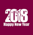 happy new year 2018 numbers with snowflakes vector image