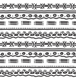horizontal ethnic pattern vector image vector image