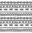 horizontal ethnic pattern vector image vector image