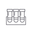 lab research line icon concept lab research vector image vector image