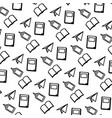 line school tools education background design vector image vector image