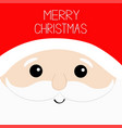 merry christmas santa claus big head face red hat vector image vector image