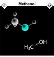 Methanol molecule vector image vector image