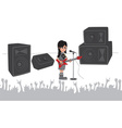 Music stage vector image