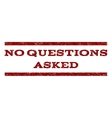No Questions Asked Watermark Stamp vector image vector image