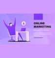 online marketing vector image vector image
