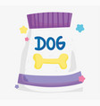package food dog domestic cartoon animal pets vector image vector image