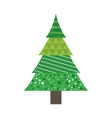 pine tree merry christmas celebration icon vector image vector image