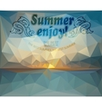 Polygonal seaside view sammer poster vector image vector image