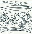 sea pattern japanese oriental seamless wave vector image
