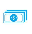 silhouette bills dollar cas money currency vector image vector image