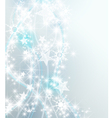 Silver snowflake background vector image