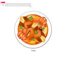 Singaporean Chilli Crab Popular Dish in Singapore vector image vector image