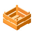 small crate icon isometric style vector image vector image