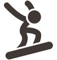 snowboard icon vector image vector image