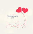 sweet valentines day card design with two vector image vector image