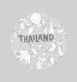 Thailand round concept vector image