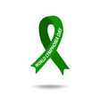 world lymphoma awareness day green ribbon vector image vector image