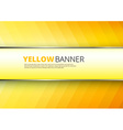 yellow-orange background with banner place vector image