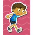 Boy walking vector image