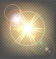 heat sun with glare lens flare vector image