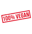 100 percent vegan rubber stamp vector image vector image