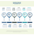 6 steps modern and clean business infographics vector image vector image
