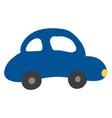 a blue colour car or color vector image vector image