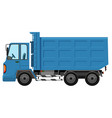 a garbage truck on white background vector image