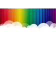 abstract clouds background rainbow stripes vector image