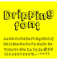 Abstract dripping font vector image vector image