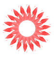 abstract sun symbol the cycle of fire flames in vector image vector image