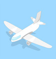 airplane isometric image vector image